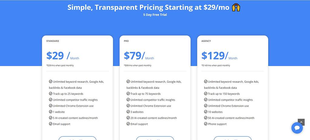 growthbar pricing