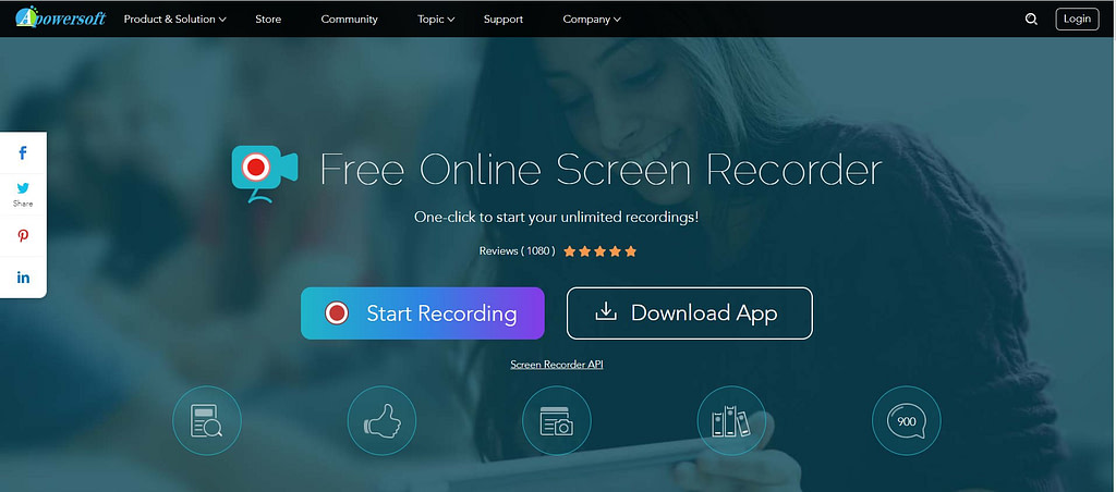 apowersoft online free screen recording software