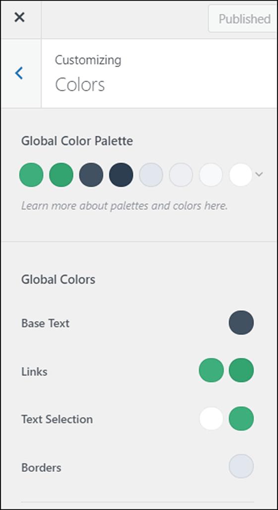 blocksy colors