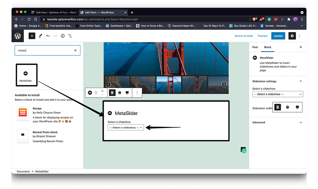 how to add metaslider to wordpress