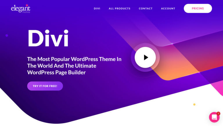 divi homepage
