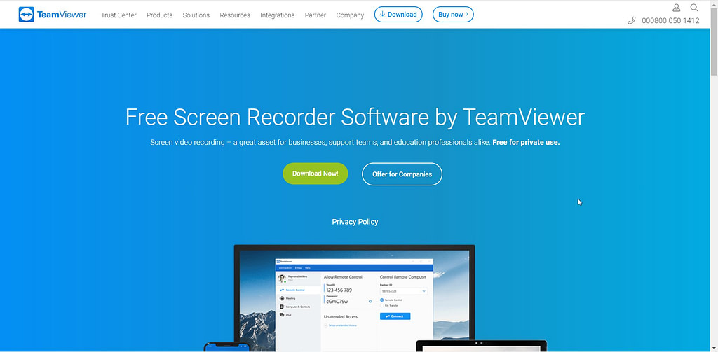 screen recorder by teamviewer