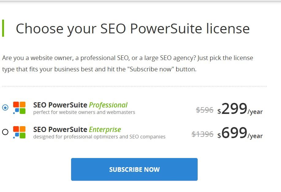 seo powersuite pricing
