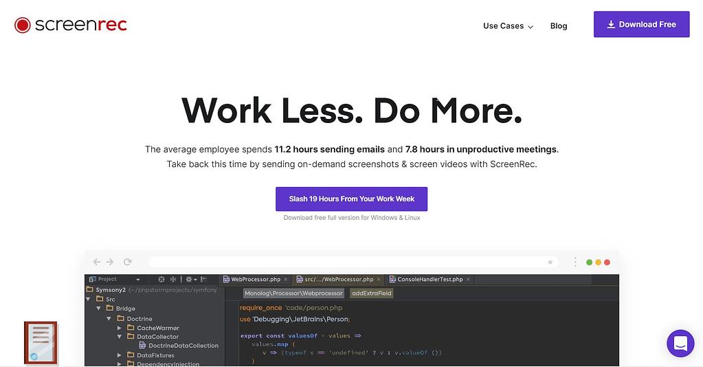 screenrec free screen recording software