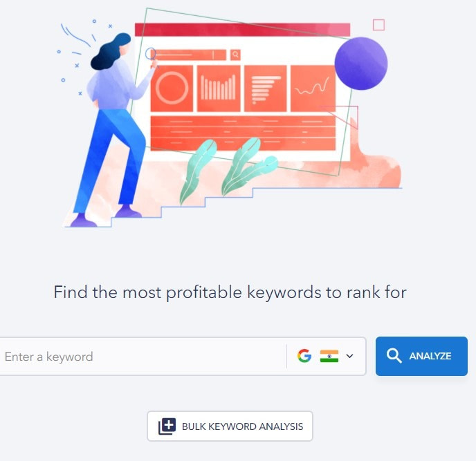 keyword research tool by SE Ranking