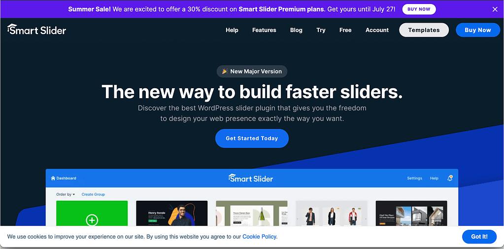 smart slider 3 homepage