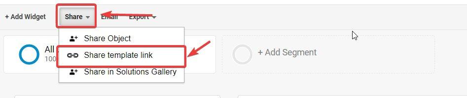 share dashboard google analytics