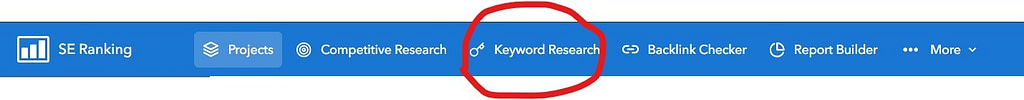 keyword research link seranking