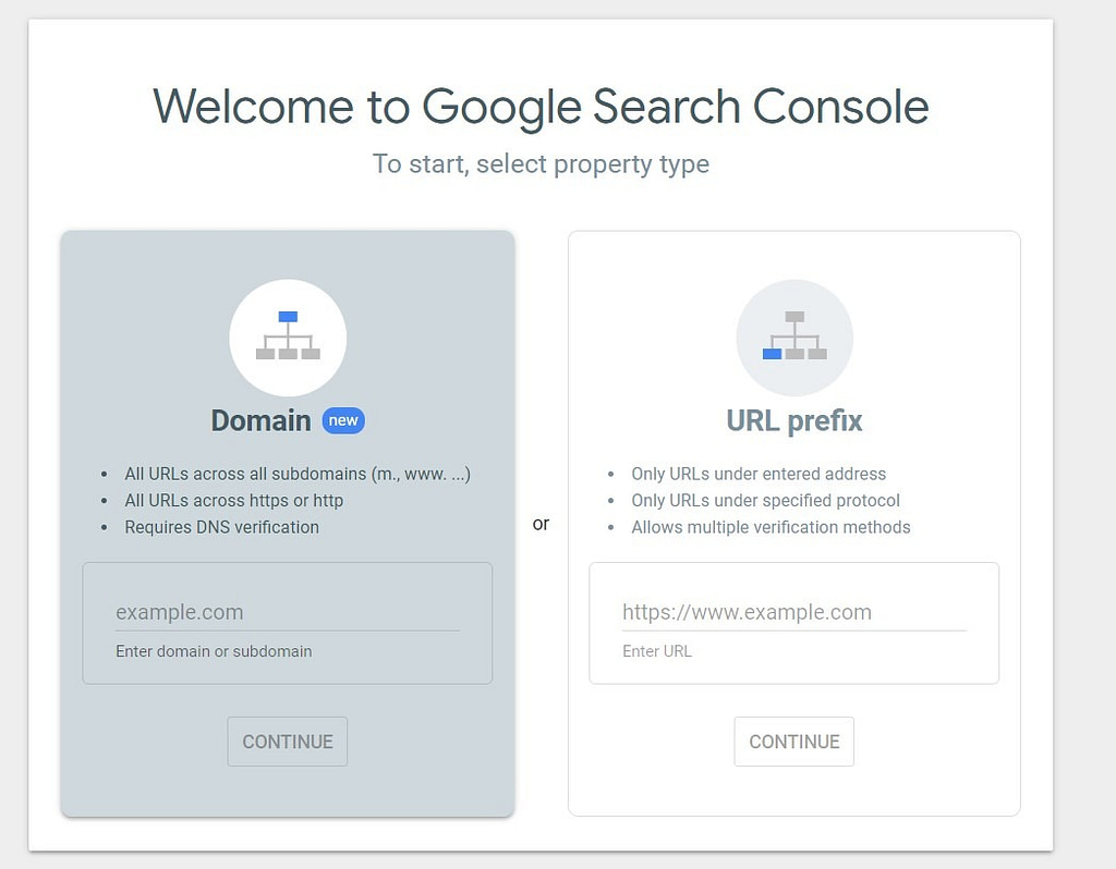 google search console registration
