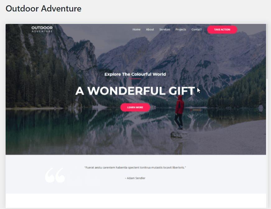astra outdoor adventur starter template